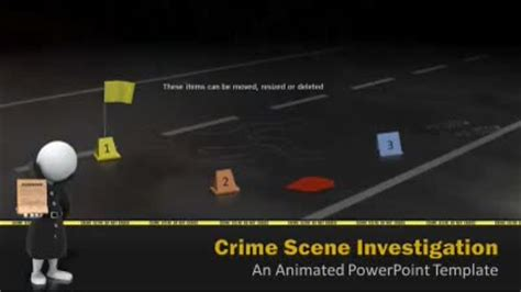 Crime Scene Investigation A Powerpoint Template From Presentermedia Com Murder Powerpoint Template