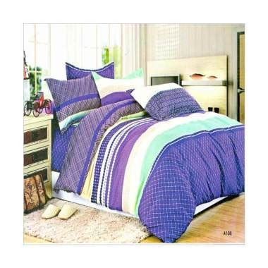 Sprei Coral Jual Rosewell A108 Microtex Set Sprei Blue Coral