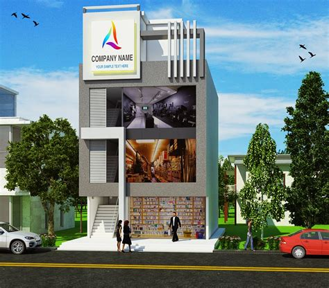 Architectural Home Design by Resurrectiion Multimedia Elevation Of Commercial Building