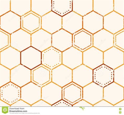 honey pattern vector seamless honey pattern with outlined honey cells stock