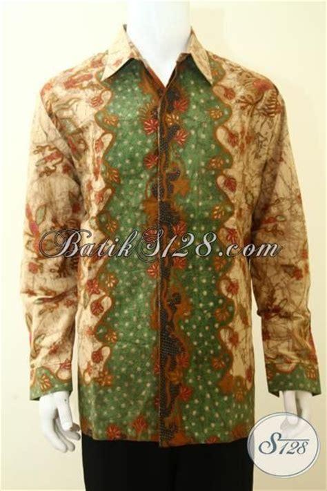 Kemeja Batik Sogan Tangan Panjang kemeja batik klasik mewah harga mahal batik tulis tangan