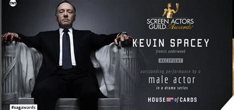 house of cards awards video kevin spacey trionfa ai sag awards 2016 per house of cards