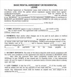 leasing template leasing agreement 7 free pdf