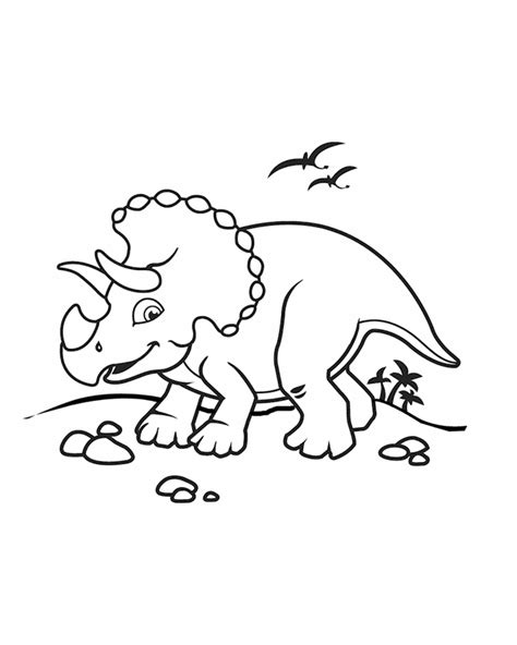 dinosaur cartoon pictures for kids coloring home