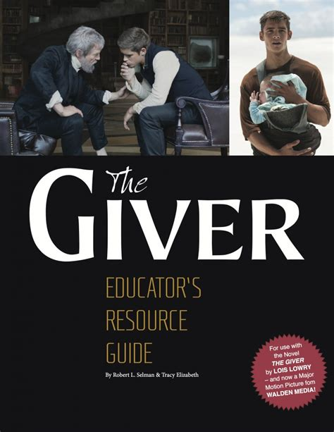 walden book cover poster the giver educator s resource guide walden media