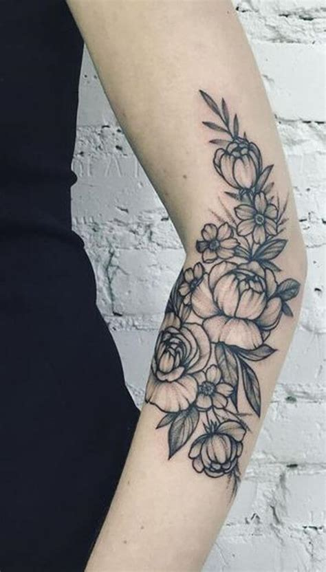 Arm Tattoos For Women Ideas And Designs For Girls Black And White Flower Tattoos For On Arm 2