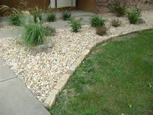 Garden Gravel Stones Flower Bed Border Home Interior Design
