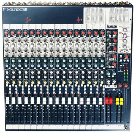 Mixer Soundcraft Fx 16 soundcraft spirit fx 16 ii soundcraft spirit folio fx16 ii mixer 16 monochannels 4 stereo
