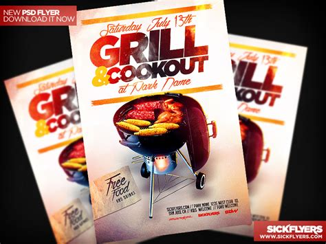 Cookout Flyer Template bbq cookout flyer template psd flickr photo