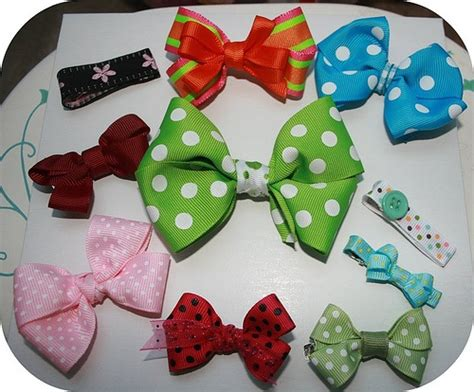 How To Make Handmade Hair Bows - 12 best images about barrette ideas on