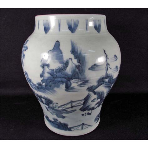 Ching Dynasty Vase by Porcelain Blue And White Vase Ching Dynasty