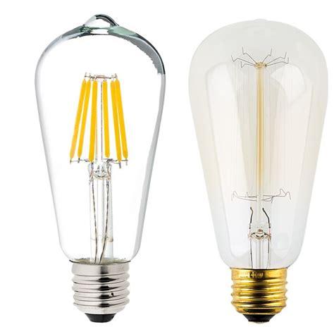 12 volt led light bulbs for rv st18 led filament bulb 40 watt equivalent vintage light
