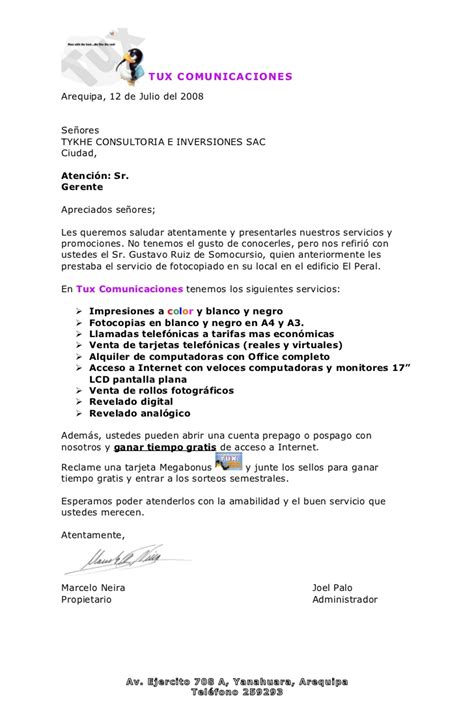 Modelocurriculum Net Modelos Carta Presentacion Carta Promocional Para Empresas