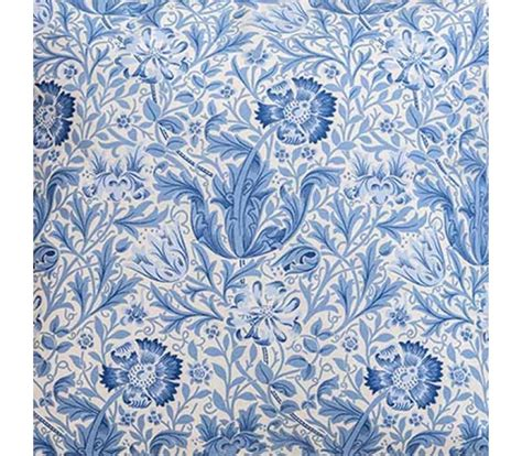 Double Size Duvet Cover William Morris Blue Compton Oxford Seat Pad
