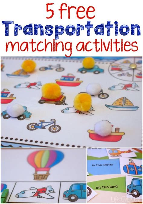 a to z of transportation themed crafts and transportation theme free printables for matching themes free therapy and activities