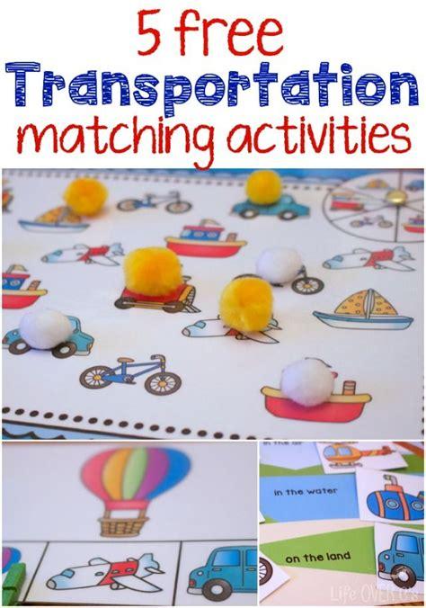 kindergarten themes transportation transportation theme free printables for matching themes