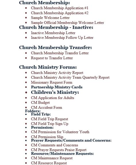 Transfer Prayer Letter Free Church Forms Cd Fcf Cd
