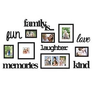 bed bath beyond frames wallverbs 13 quot family is quot photo frame set in satin