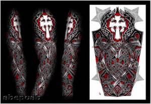 nathaniel celtic full sleeve by shepush on deviantart