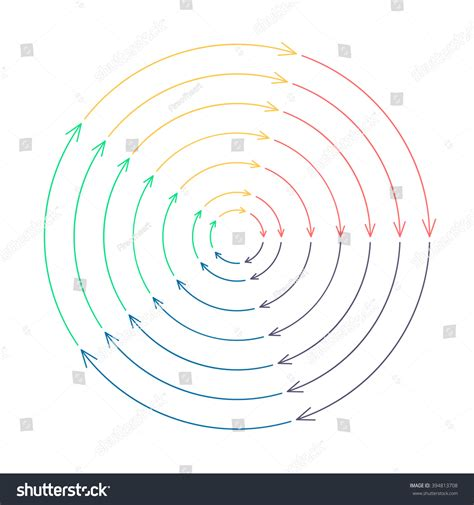 Outline Offset Radius by Outline Circular Infographic Arrows Different Radius Stock Vector 394813708