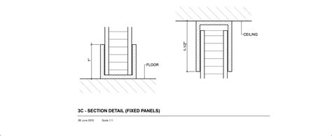 section 3c 3c section floor ceiling detail panelite