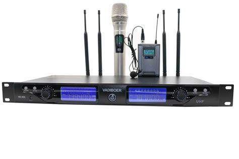 Waireless Microphone Uhf 800 Vadiboer Bo 800 Sound 200 Channels 4 Antenna True