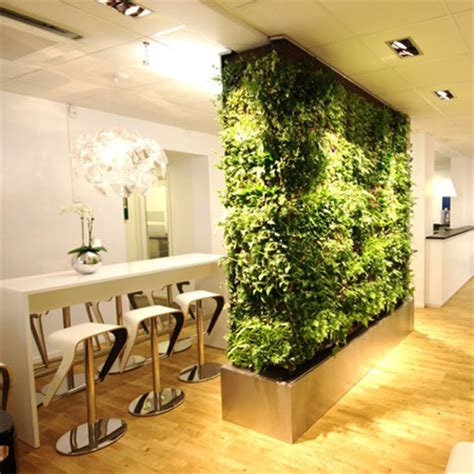 garden living room living room divider partition with vertical garden