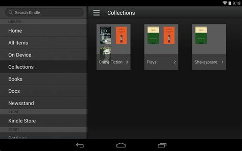 kindle android kindle for android app updated adds collections for improved organisation android authority