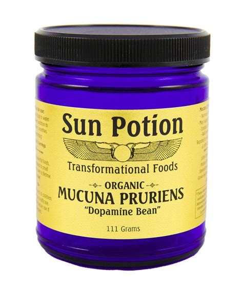 l dopa vegetables mucuna pruriens powder organic 111 g sun potion