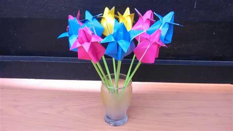 cara membuat origami bunga youtube cara membuat origami bunga tulip youtube