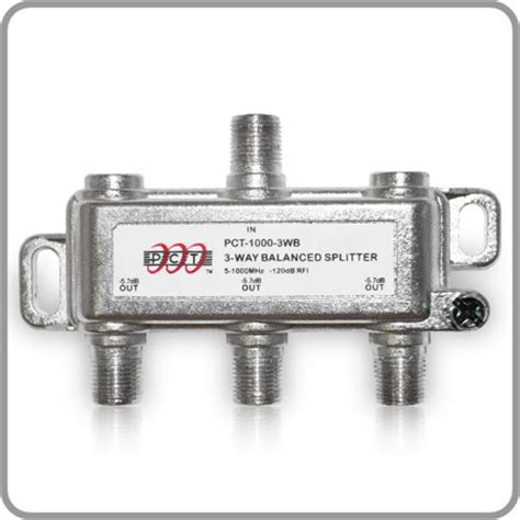 Splitter Gsm 3way 3 way splitter for rf applications pct10003wb pct store