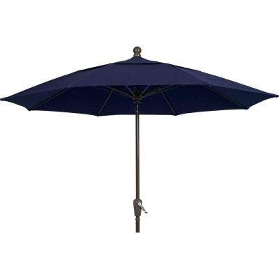Blue Patio Umbrella Fiberbuilt Umbrellas Lucaya 11 Ft Patio Umbrella In Navy Blue 11lpp A 4626 The Home Depot