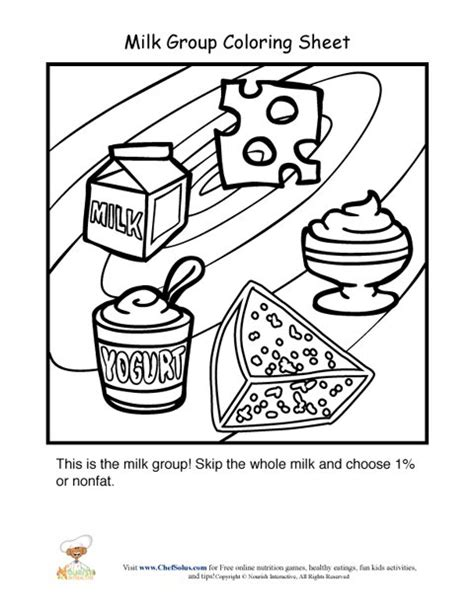 Dairy Food Group Coloring Sheet Food Groups Coloring Pages