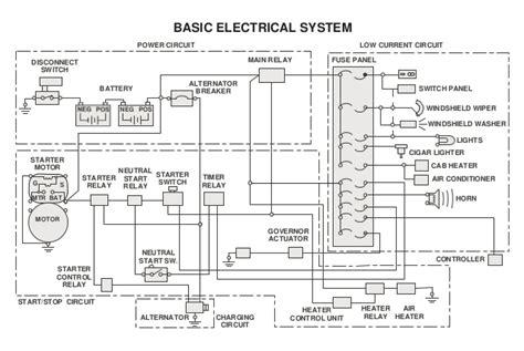 caterpillar alternator wiring diagram relay alternator