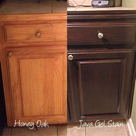 kitchen stained oak china cabinet java gel stain oak kitchen cabinets kitchen ideas