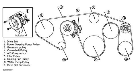 diagram of serpentine belt routing 2004 nissan titan serpentine belt routing and timing belt