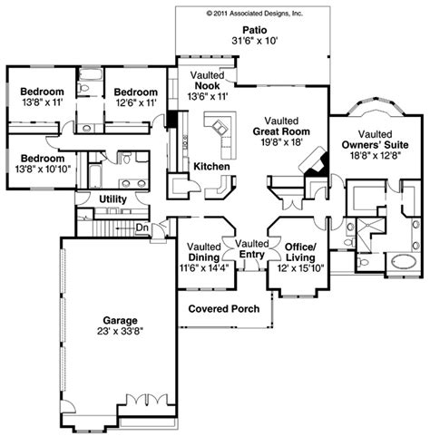 home architecture ranch house plans cameron associated designs 21 best images about 4 bedroom house plans on pinterest