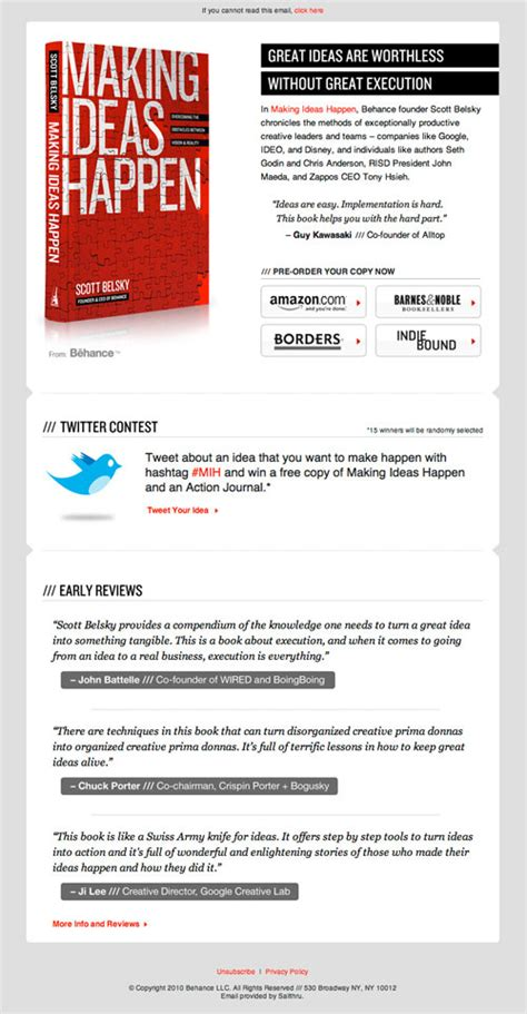 html layout in email creating html emails how to and design inspiration