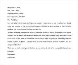 thank you letter to mentor 11 free documents
