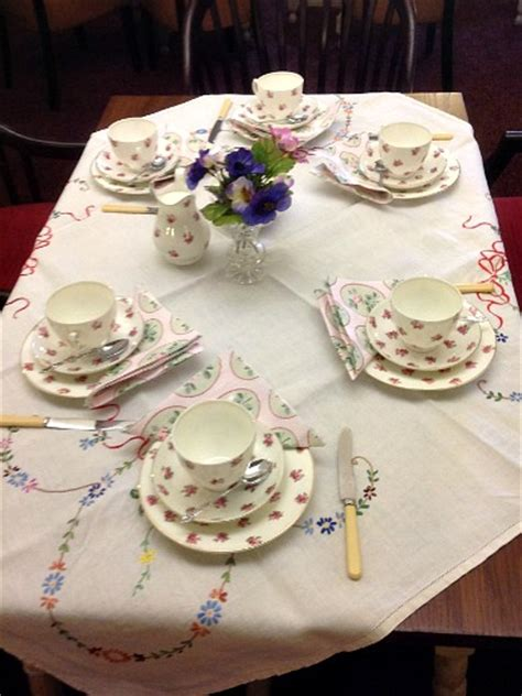 Christmas Table Settings vintage afternoon tea party grappenhall community centre