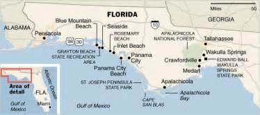 Map Of Florida Panhandle Beaches by Coastal Map Florida Panhandle