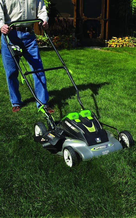 earthwise  cordless electric push lawn mower review