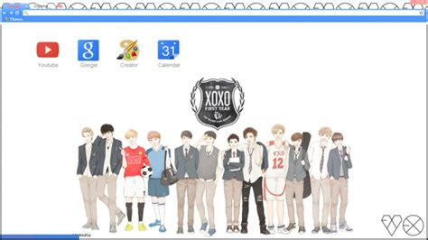 google chrome themes kpop exo exo xoxo chrome theme themebeta