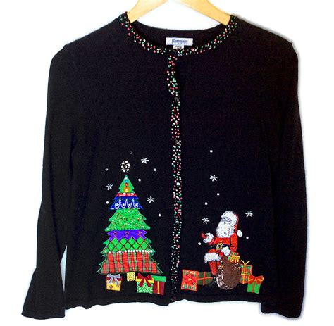 christmas tree dirty santa tacky ugly holiday sweater