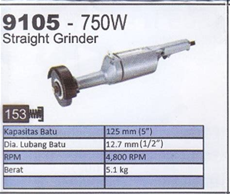 Mesin Poles Stainless Grinder Makita 9105 product of mesin grinder supplier perkakas teknik