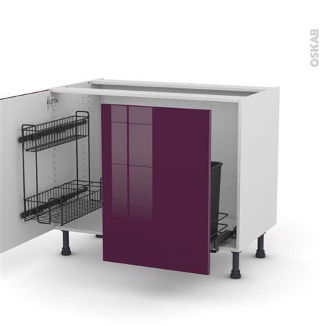meuble de cuisine aubergine meuble de cuisine sous 233 vier keria aubergine 2 portes