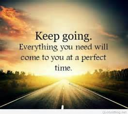 keep going motivational quote card
