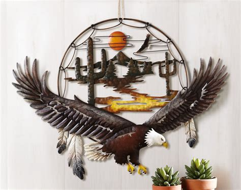 eagle home decor southwest eagle 3d metal wall art themed living room home