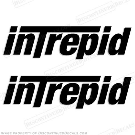 intrepid powerboats logo decals set of 2 any color - Intrepid Boat Decals