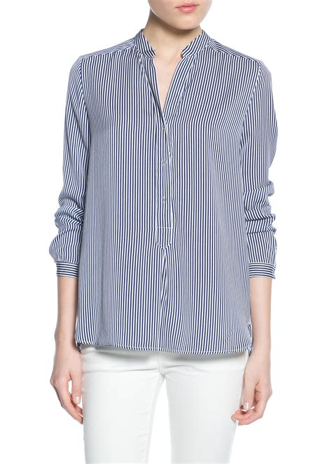 Blouse Stripe Flowy striped flowy shirt blouses and shirts for mango